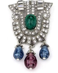Ben-Amun - Crystal Multi-drop Brooch - Lyst