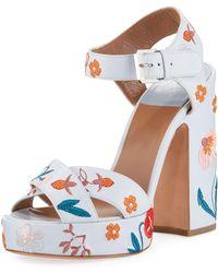 0664beb0a4a Laurence Dacade - Women s Rosange Floral Leather Platform Sandals - Lyst