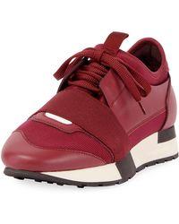 Balenciaga - Colorblock Race Stretch-sock Trainers - Lyst