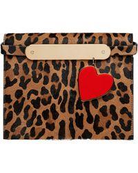 Edie Parker - Candy Leopard-print Fur Clutch Bag - Lyst