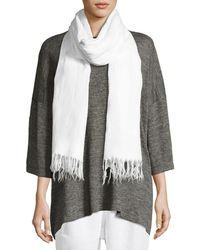 Eskandar - Handkerchief Linen Shawl - Lyst