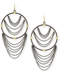 Armenta - Old World Diamond Hoop Chain Earrings - Lyst