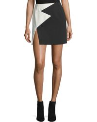 Thierry Mugler - Bicolor Star Crepe Mini Skirt - Lyst