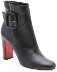 638ccd4d156 Christian Louboutin - Tres Olivia Napa Leather Buckled Red Sole Booties -  Lyst