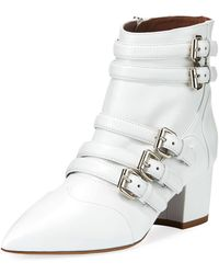 Tabitha Simmons - Christy Leather Buckle 50mm Bootie - Lyst