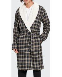 UGG Men's Kalib Fleece-lined Plaid Robe - Multicolour