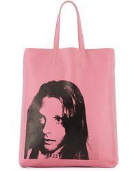 CALVIN KLEIN 205W39NYC Andy Warhol Sandra Brant Tote Bag - Pink