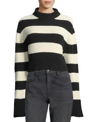 Tre by Natalie Ratabesi - Striped Chunky Knit Sweater - Lyst