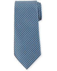 Ermenegildo Zegna - Link Stripe Silk Tie - Lyst