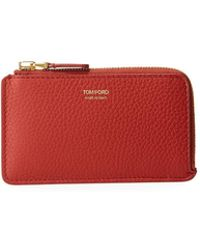 Tom Ford - Zip-around Leather Card Case - Lyst