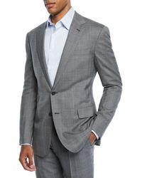 Ralph Lauren Men's Two-piece Overcheck Suit - Gray