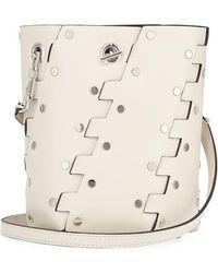 Proenza Schouler - Mini Hex Studded Leather Bucket Bag - Lyst