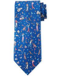 Ferragamo - Golfers Silk Tie - Lyst