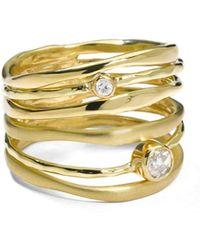 Ippolita - 18k Gold Stardust Movie Star Six-band Ring With Diamonds - Lyst