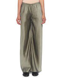 The Row Gala Wide-leg Trousers - Gray