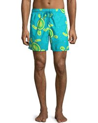 Vilebrequin - Men's Moorea Mosaic Turtles Swim Trunks - Lyst