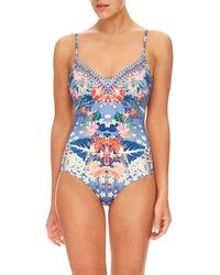 fec210a0fadc1 Camilla Floral-print Halter One-piece Swimsuit - Lyst