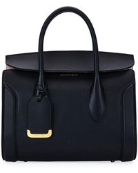 Alexander McQueen - Heroine 30 Small Sweet Calf Leather Tote Bag - Lyst