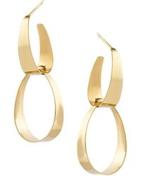 Lana Jewelry - Small Gloss Link Earrings In 14k Gold - Lyst