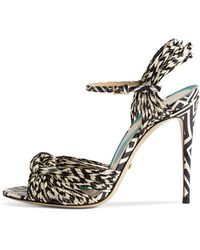 Gucci - Allie Striped Leather Sandals - Lyst