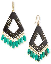 Ashley Pittman - Mashua Dark Horn Dangle Earrings W/ Turquoise - Lyst