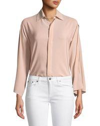Ralph Lauren Collection - Karen Split-sleeve Silk Blouse - Lyst