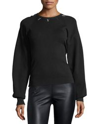 Thierry Mugler | Embellished Full-sleeve Sweater | Lyst
