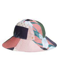 Tory Burch Floral Patchwork Bucket Hat - Multicolour