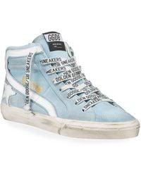 2e95165f25e9 Golden Goose Deluxe Brand - Men s Slide Suede High-top Sneakers - Lyst