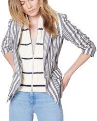 Veronica Beard - Farren Striped Cable-knit Dickey - Lyst