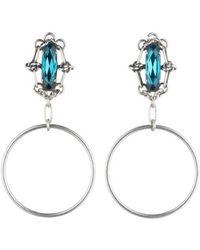 DANNIJO - Adelaide Blue Zircon Hoop Earrings - Lyst