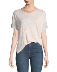 Rag & Bone - Payton Short-sleeve Linen Tee - Lyst