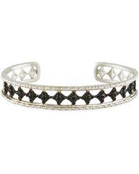 Armenta - New World Blackened Eternity Crivelli Cuff Bracelet With Black Spinel - Lyst
