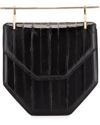 M2malletier Amor Fati Painted Leather Satchel Bag - Black