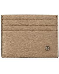 Giorgio Armani | Caviar Leather Card Case | Lyst