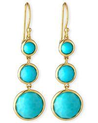 Ippolita - 18k Lollipop® Three-stone Drop Earrings In Turquoise - Lyst