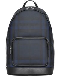 Burberry - Men's Rocco Check Backpack - Lyst
