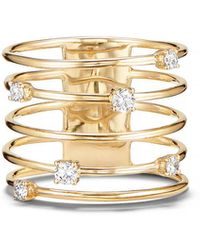 Lana Jewelry 14k Gold Diamond Wire Crown Ring - Metallic
