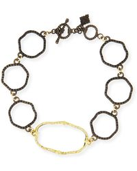 Armenta - Old World Wavy Circle Link Bracelet With Diamonds - Lyst