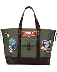 DSquared² - Camp Leather-trim Patch Tote - Lyst