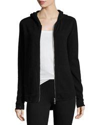 ATM | Cashmere-blend Zip Front Hooded Jacket | Lyst