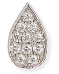 Sydney Evan 14k White Gold Diamond Paisley Petal Stud Earring (single) - Multicolour
