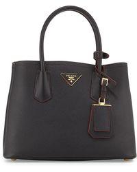 Prada - Saffiano Cuir Double Bag - Lyst