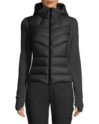 Moncler Grenoble - Combo Jacket W/ Fleece Knit & Chevron Quilted Front - Lyst