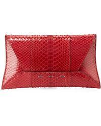 VBH - Manila Gt Shiny Python Clutch Bag - Lyst