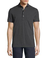 Ralph Lauren - Heathered Pocket Polo Shirt - Lyst