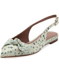 Tabitha Simmons - Knotty Floral Pointed Slingback Flat - Lyst