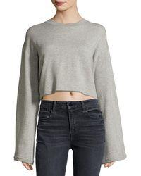 T By Alexander Wang | Tie-back Long-sleeve Sweatshirt | Lyst