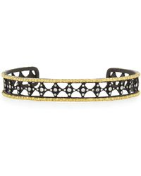 Armenta | Old World Midnight Large Cravelli Cuff With Diamonds | Lyst