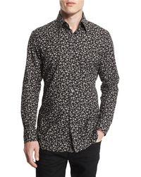 Tom Ford - Pansy-printed Slim Sport Shirt - Lyst